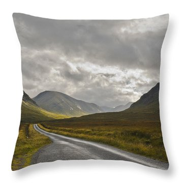 Throw Pillow featuring the photograph Glen Etive In The Scottish Highlands by Jane McIlroy