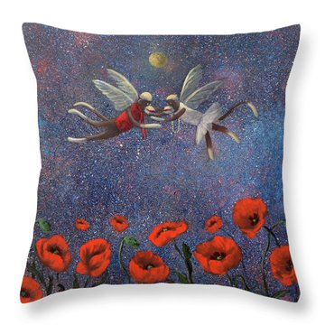 Glenda The Good Witch Has Flying Monkeys Too Throw Pillow by Randy Burns