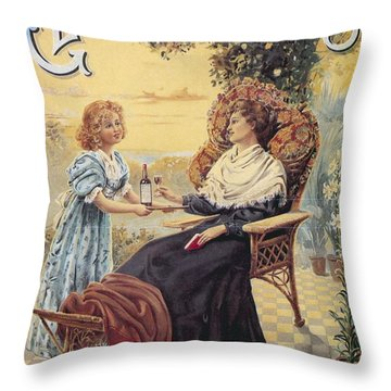 Throw Pillow featuring the photograph Glendenning's Beef And Malt Wine Ad by Gianfranco Weiss