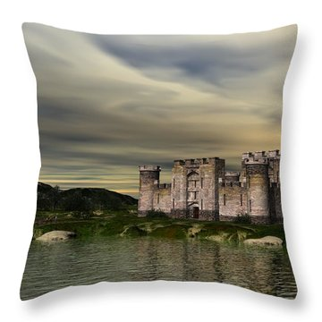 Glendor Castle Throw Pillow by John Pangia