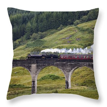 Glenfinnan Viaduct - D002340 Throw Pillow