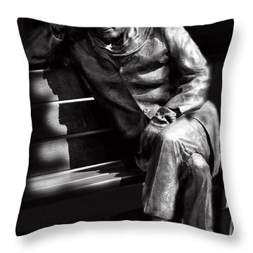 Glenn Gould Throw Pillow by Andrew Fare