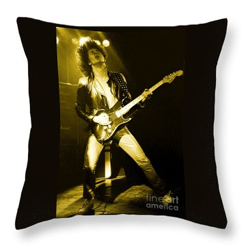 Glenn Tipton Of Judas Priest At The Warfield Theater During British Steel Tour - Unreleased Throw Pillow