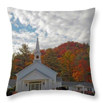 Glenville In Autumn  Throw Pillow