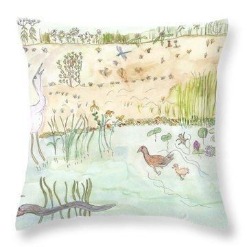 Glenwood Landing Throw Pillow by Helen Holden-Gladsky