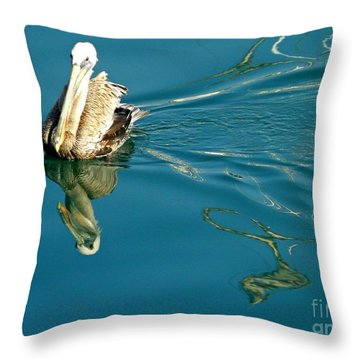Throw Pillow featuring the photograph Gliding by Clare Bevan