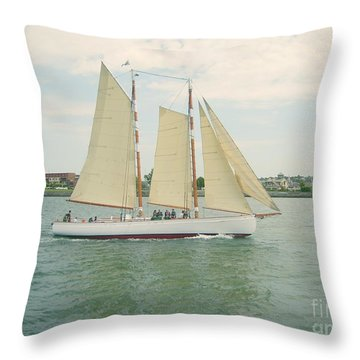Gliding In Full Sail Throw Pillow