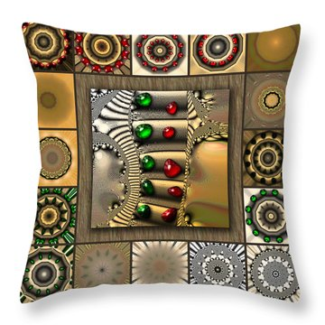 Glimmering Afternoon Redux Throw Pillow
