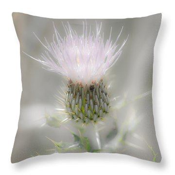 Glimmering Thistle Throw Pillow