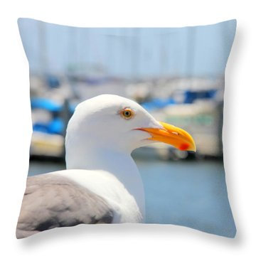 Throw Pillow featuring the photograph Glimpse by Nick David