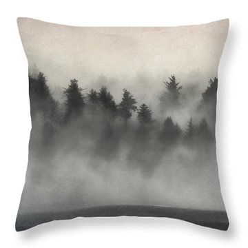 Glimpse Of Mist And Trees Throw Pillow