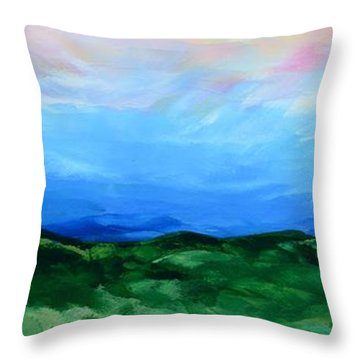 Throw Pillow featuring the painting Glimpse Of The Splendor by Linda Bailey