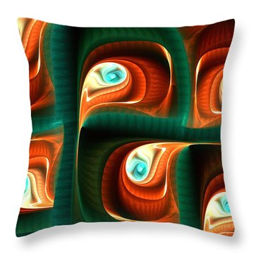 Glimpses Throw Pillow by Anastasiya Malakhova