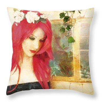 Throw Pillow featuring the digital art Glint by Galen Valle