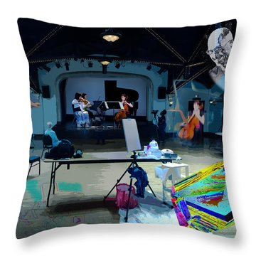 Glisten Rehearsal Throw Pillow