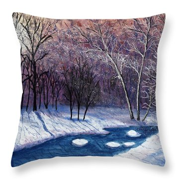 Glistening Branches Throw Pillow