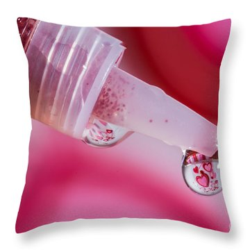 Glitter Love Drop Throw Pillow