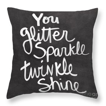 Glitter Sparkle Twinkle Throw Pillow