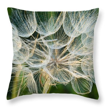 Glittering In The Grass Throw Pillow