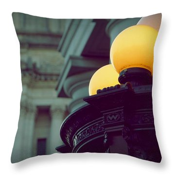 Global Lighting Throw Pillow by Patricia Strand