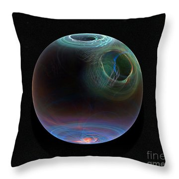 Global Warming Throw Pillow by Peter R Nicholls