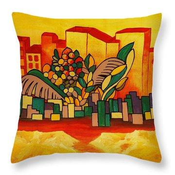 Global Warning Throw Pillow by Barbara St Jean