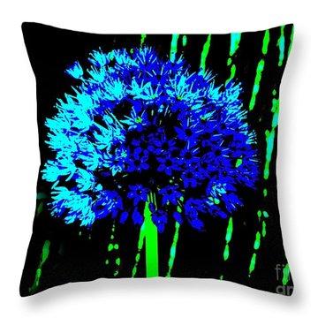 Globe Allium  Throw Pillow by Sally Simon