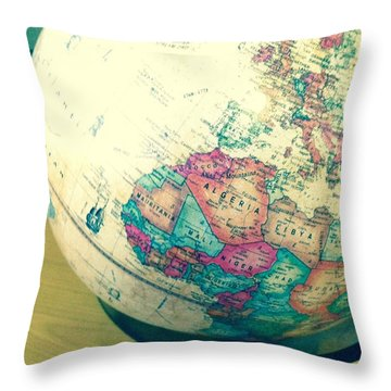 Throw Pillow featuring the photograph Globe - Edit by Alohi Fujimoto