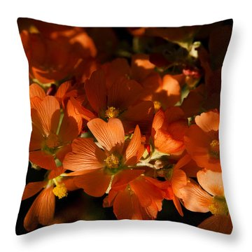 Globe-mallow Blooms  Throw Pillow by Saija  Lehtonen