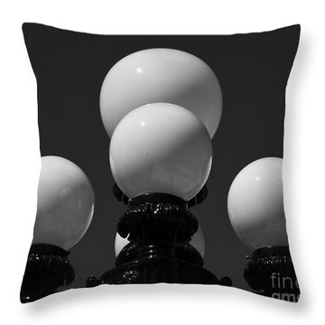Throw Pillow featuring the photograph Globes by Linda Bianic
