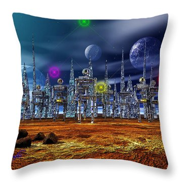 Throw Pillow featuring the photograph Gloeroxz by Mark Blauhoefer
