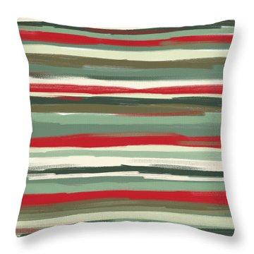 Gloomy Beach Day Throw Pillow by Lourry Legarde