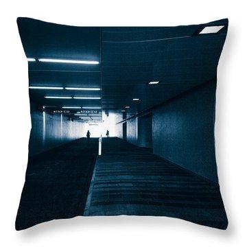 Gloomy Blue Throw Pillow