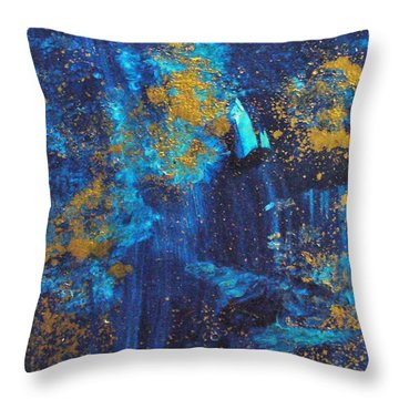 Throw Pillow featuring the painting Gloria by Mary Sullivan