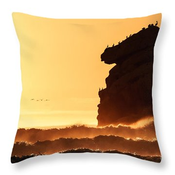 Glorious Afternoon At Morro Bay Throw Pillow by Terry Garvin
