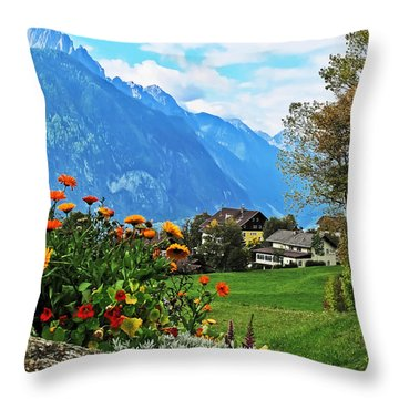 Glorious Alpine Meadow Throw Pillow
