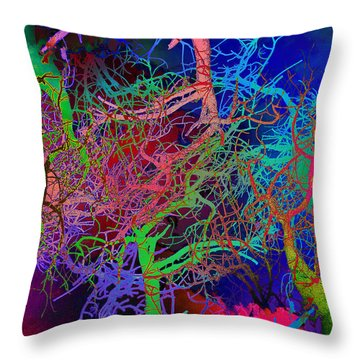Glorious Bare Trees Throw Pillow by David Pantuso