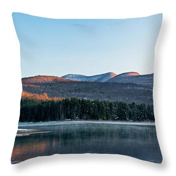 Throw Pillow featuring the photograph Glorious Catskill Morning by Nancy De Flon
