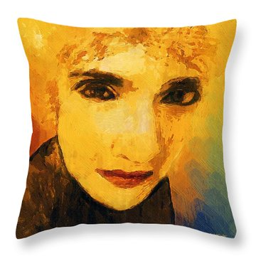 Glorious Crone Throw Pillow by RC deWinter