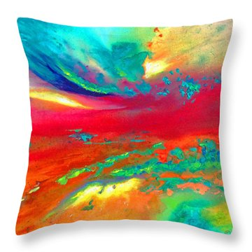 Throw Pillow featuring the painting Glorious Day by Karen Kennedy Chatham