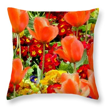 Glorious Garden Throw Pillow by Bruce Nutting