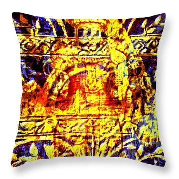 Glorious Gold Throw Pillow by Larry Lamb