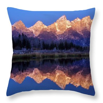 Throw Pillow featuring the photograph Glorious Morning Panorama by Benjamin Yeager