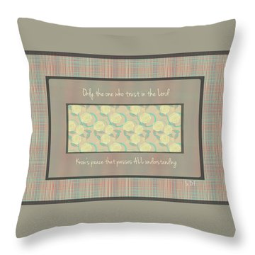 Glorious Peace  Throw Pillow