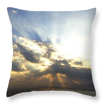 Glorious Rays Of Sunshine Throw Pillow