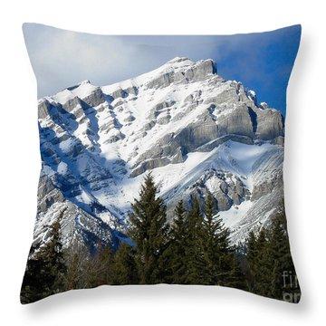 Glorious Rockies Throw Pillow by Bianca Nadeau