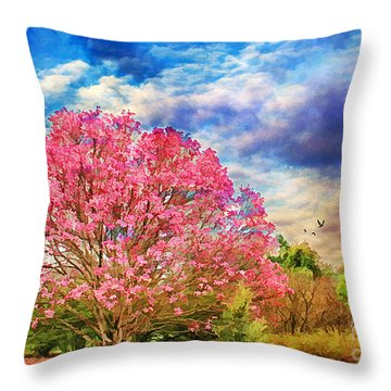 Glorious Spring Throw Pillow by Darren Fisher