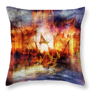Glory And Fall Iv Throw Pillow