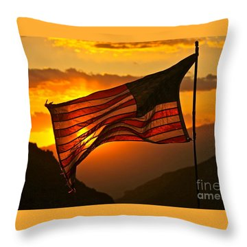 Glory At Sunset Throw Pillow