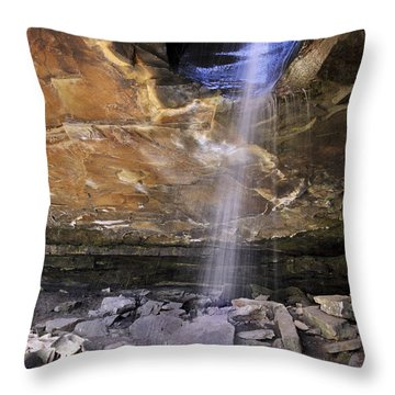 Glory Hole Falls - Arkansas - Waterfall Throw Pillow